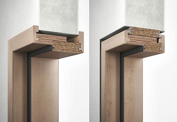 die Wahl der passenden Zarge für Zimmertüren richtet sich vor allem nach der Wandstärke und dem ausgewählten Türblatt