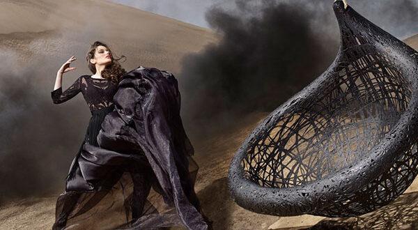 Schwarze Eleganz: Designmöbel aus Vulkangestein