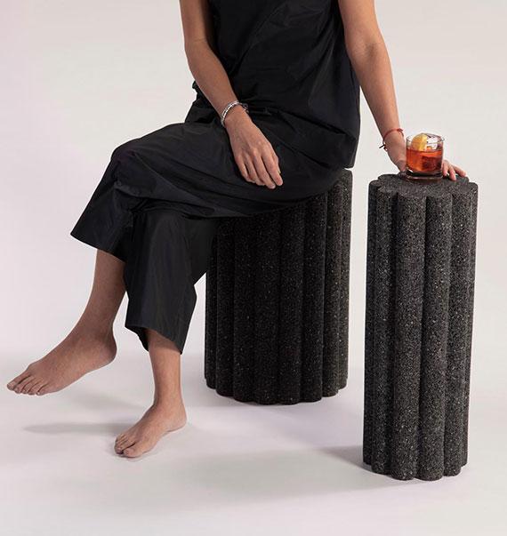 möbelkollektion Loto Roca_handgefertigte designmöbel aus Vulkangestein