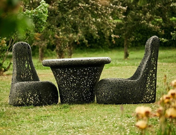 innovative outdoor lava designmöbel für eine attraktive stylische gartengestaltung