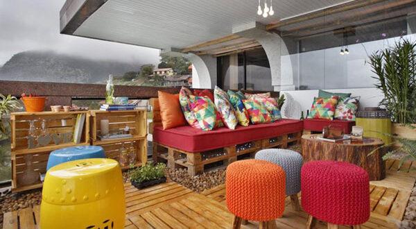 Gartenmöbel aus Paletten für einen Außenbereich mit Wow-Effekt
