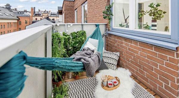 Urlaubsstimmung schaffen mit Hängematte auf Balkon & Terrasse