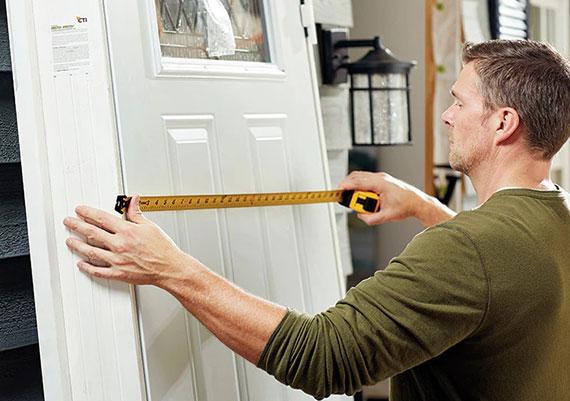 die Türenwahl soll hinsichtlich der benötigten Türabmessungen erfolgen