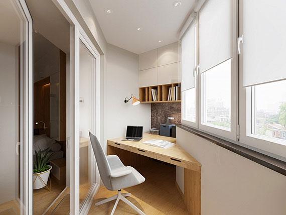 eine loggia verglassen und als separates arbeitsraum zuhause nutzen