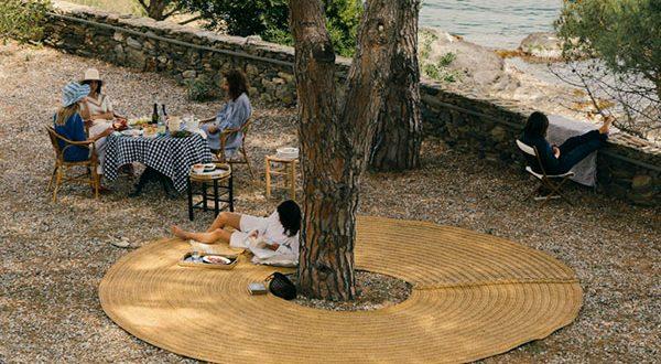 Mit Oráculo Teppich den Baumschatten in Sommer genießen