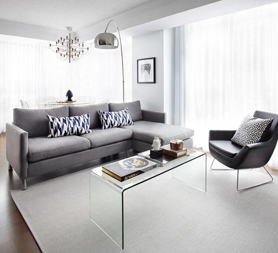 Couchtische aus Acrylglas sind filigrane Möbelstücke für ein schlichtes und minimalistisches interior