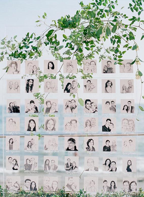Mit Fotos zeigt ihr euren Gästen den Weg zu ihrem Sitzplatz
