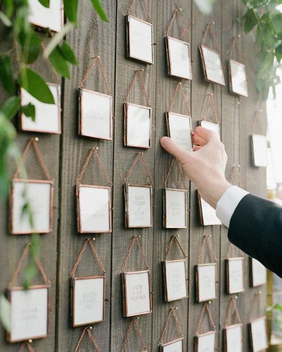 bilderrahmen tischplan zur Hochzeit basteln