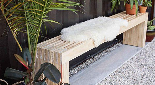 Interieur & Exterieur mit einer neuen DIY Holzbank erfrischen