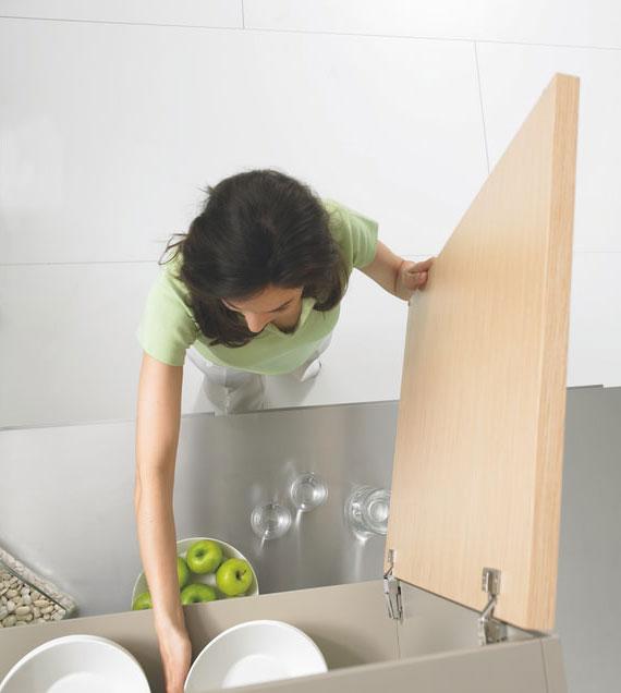 sind genug Schränke und Schubladen vorhanden, kann man leichter die Küche sauber halten